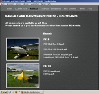 Manuals Maintenance Lists 4 fk lightplanes